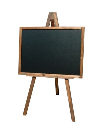 Framed Chalkboard and Easel - Assigns
