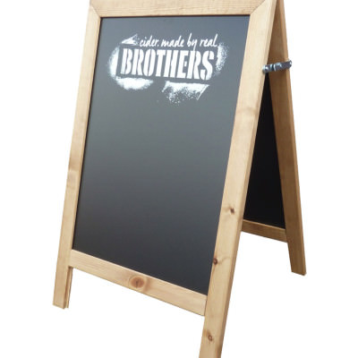 A2 A-board - Brothers Cider Logo