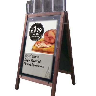 Tesco - Wooden A-Board